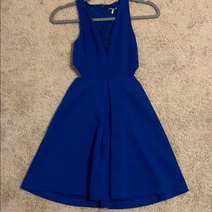 Express royal blue formal dress